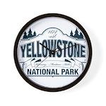 Yellowstone NP Blue Wall Clock
