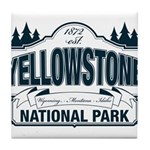 Yellowstone NP Blue Tile Coaster