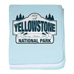 Yellowstone NP Blue baby blanket