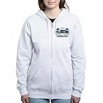 Yellowstone NP Blue Women's Zip Hoodie