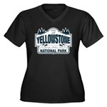 Yellowstone NP Blue Women's Plus Size V-Neck Dark