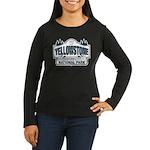 Yellowstone NP Blue Women's Long Sleeve Dark T-Shi