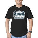 Yellowstone NP Blue Men's Fitted T-Shirt (dark)