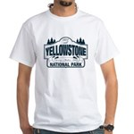 Yellowstone NP Blue White T-Shirt
