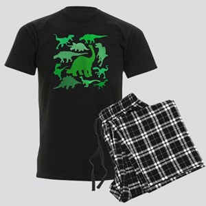FUN! LOTS of DINOSAURS! Men's Dark Pajamas