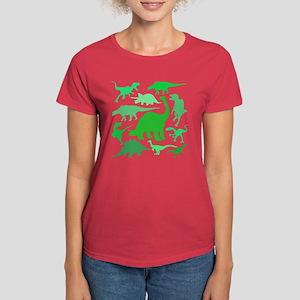 FUN! LOTS of DINOSAURS! Women's Dark T-Shirt