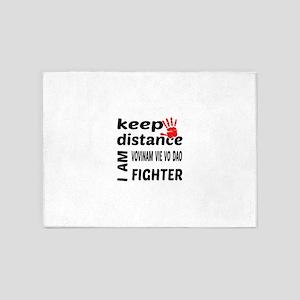 Keep distance I am Vovinam Vie Vo D 5'x7'Area Rug