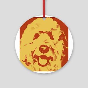 goldenDoodle_2tone_type1 Ornament (Round)