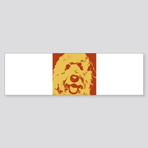 goldenDoodle_2tone_type1 Sticker (Bumper)