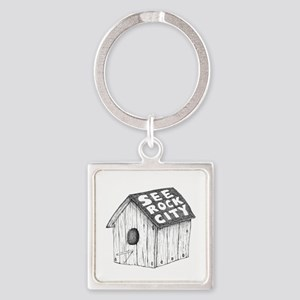 see rock city Square Keychain
