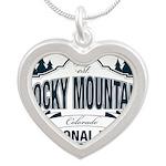 Rocky Mountain National Park Silver Heart Necklace
