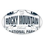 Rocky Mountain National Park Sticker (Oval 50 pk)