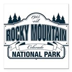 Rocky Mountain National Park Square Car Magnet 3