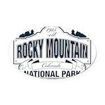 Rocky Mountain National Park Oval Car Magnet