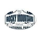 Rocky Mountain National Park 35x21 Oval Wall Decal