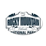 Rocky Mountain National Park 20x12 Oval Wall Decal