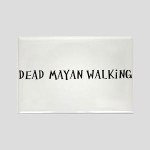 Dead Mayan Walking Rectangle Magnet