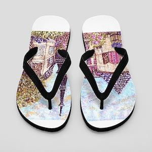 ParisCityscapePointillism021511 Flip Flops