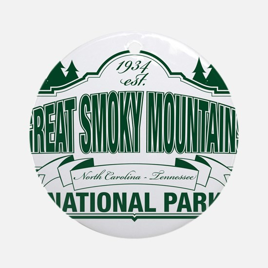 Great Smoky Mountains National Park Ornament (Roun