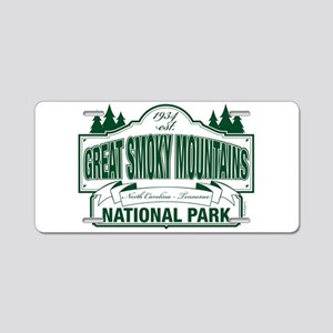 Great Smoky Mountains National Park Aluminum Licen