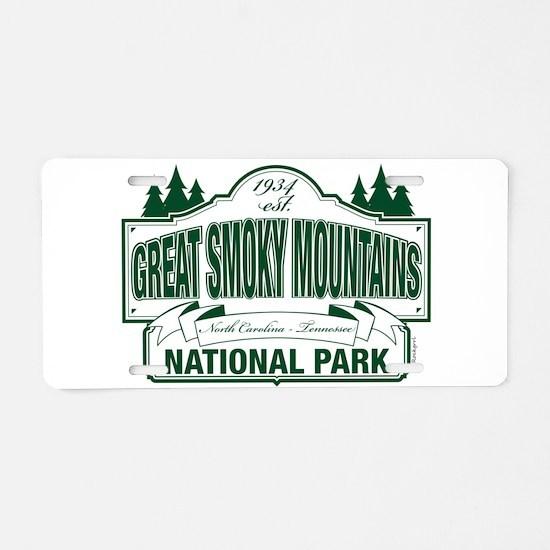 Great Smoky Mountains National Park Aluminum Licen