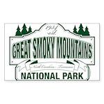 Great Smoky Mountains National Park Sticker (Recta
