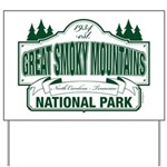 Great Smoky Mountains National Park Yard Sign