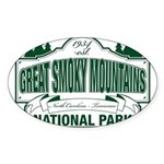 Great Smoky Mountains National Park Sticker (Oval)