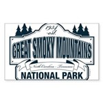 Great Smoky Mountains National Park Sticker (Recta