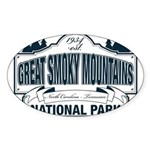 Great Smoky Mountains National Park Sticker (Oval)