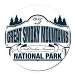 Great Smoky Mountains National Park Round Car Magn
