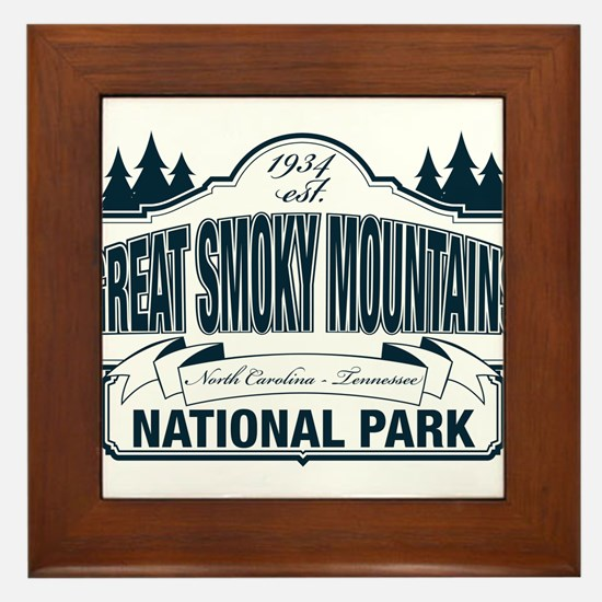 Great Smoky Mountains National Park Framed Tile