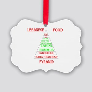 Lebanese Food Pyramid Picture Ornament
