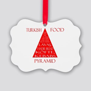 Turkish Food Pyramid Picture Ornament