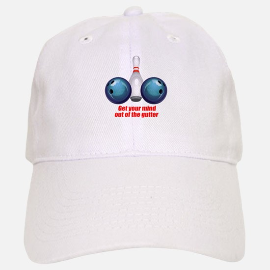 Get your Mind out of the Gutter (blue).png Baseball Baseball Cap