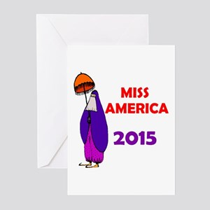 MISS AMERICA ARAB Greeting Cards