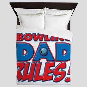 This Bowling Dad Rules Queen Duvet
