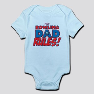 This Bowling Dad Rules.png Infant Bodysuit