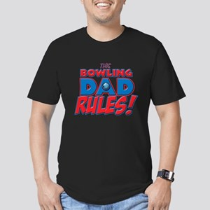 This Bowling Dad Rules Men's Fitted T-Shirt (d