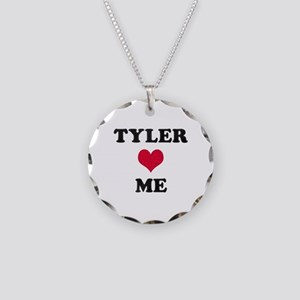Tyler Loves Me Necklace Circle Charm