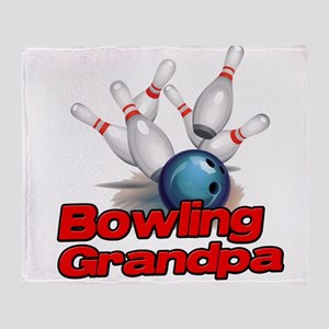 Bowling Grandpa strike) Throw Blanket