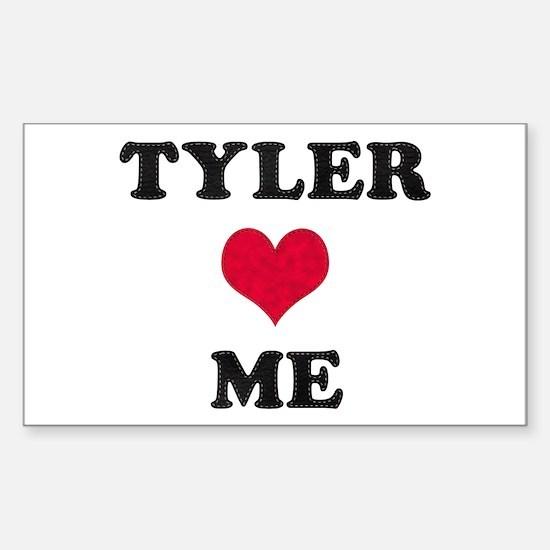 Tyler Loves Me Rectangle Decal