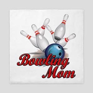 Bowling Mom (strike) copy Queen Duvet