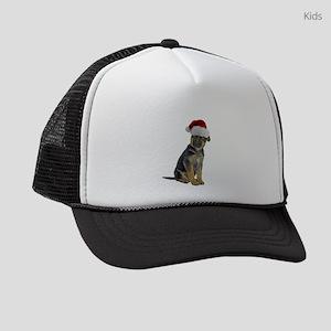 FIN-german-shepherd-santa-CROP Kids Trucker ha