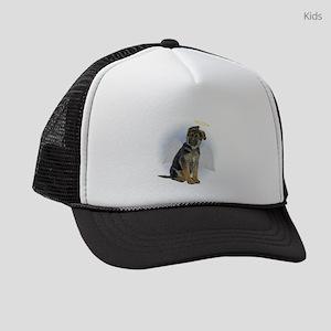 FIN-german-shepherd-angel Kids Trucker hat