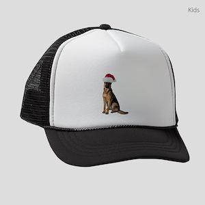 FIN-santa-german-shepherd Kids Trucker hat
