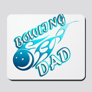 Bowling Dad (flame) copy Mousepad