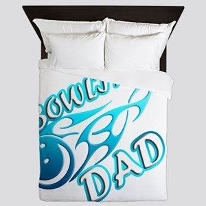 Bowling Dad (flame) copy Queen Duvet