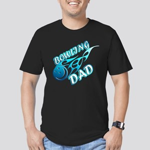 Bowling Dad (flame) copy Men's Fitted T-Shirt