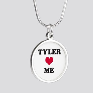 Tyler Loves Me Silver Round Necklace